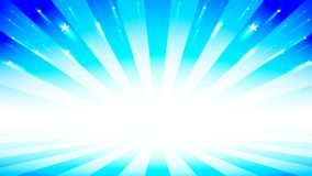 Abstract burst background with blue light color and stars. Abstract burst background for presentation in show stage design with blue light color and glitter royalty free illustration