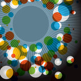 Abstract Retro Color Burst Background Royalty Free Stock Photos