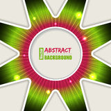 Abstract bursting pink green background Stock Photography