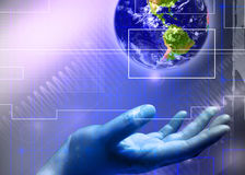 Abstract business and IT. Abstract business and information technologies background