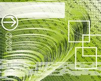 Abstract business background. Illustration of modern business. An abstract background technology and business elements on a green background royalty free illustration
