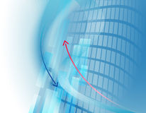 Abstract business background with arrows Stock Images