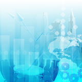 Abstract business background. Blue color Royalty Free Illustration