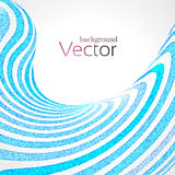 Abstract Business Background with Blue 3d Wave Lines stripes with Dots.  Stock Photos