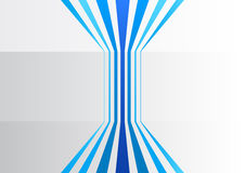 Abstract business background with blue vertical lines in a grey office Stock Image