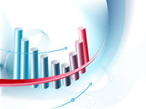 Abstract business background with chart Stock Photography