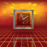 Abstract business background with clock and stars Stock Photography