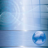 Abstract business background with earth globe. Abstract blue business background with earth globe Royalty Free Stock Image
