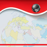 Abstract business background with earth map Royalty Free Stock Images