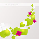 Abstract Business Background with flowers. Royalty Free Stock Photo