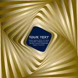 Abstract business background with gold wave stock illustration