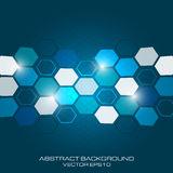 Abstract business background with light effect and hexagon. Royalty Free Stock Photo