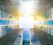 Abstract business background made of details of corporate buildings Royalty Free Stock Photography