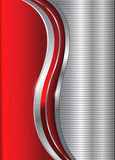 Abstract business background red silver Royalty Free Stock Photo
