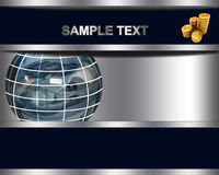 Abstract business background with sphere from dollar and dollar coins Royalty Free Stock Images