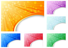 Abstract business backgrounds collection Royalty Free Stock Photography
