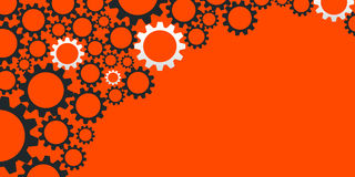 Abstract business banner with gears Royalty Free Stock Images