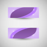 Abstract business banner violet wave background Stock Photo