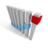Abstract Business Bar Blocks Chart Diagram Stock Image