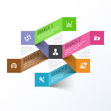 Abstract business branches infographics template Royalty Free Stock Photo