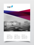 Abstract business Brochure design vector template in A4 size. Do. Cument or book cover. Annual report with photo and text. Simple style brochure. Flyer promotion Stock Photos