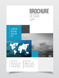 Abstract business Brochure design vector template in A4 size. Do. Cument or book cover. Annual report with photo and text. Simple style brochure. Flyer promotion Royalty Free Stock Photo