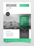 Abstract business Brochure design vector template in A4 size. Do. Cument or book cover. Annual report with photo and text. Simple style brochure. Flyer promotion Stock Image