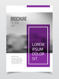 Abstract business Brochure design vector template in A4 size. Do. Cument or book cover. Annual report with photo and text. Simple style brochure. Flyer promotion Royalty Free Stock Images