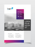 Abstract business Brochure design vector template in A4 size. Do. Cument or book cover. Annual report with photo and text. Simple style brochure. Flyer promotion Stock Images