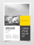 Abstract business Brochure design vector template in A4 size. Do. Cument or book cover. Annual report with photo and text. Simple style brochure. Flyer promotion Royalty Free Stock Image