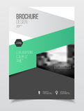 Abstract business Brochure design vector template in A4 size. Do. Cument or book cover. Annual report with photo and text. Simple style brochure. Flyer promotion Stock Photography