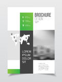 Abstract business Brochure design vector template in A4 size. Do. Cument or book cover. Annual report with photo and text. Simple style brochure. Flyer promotion Royalty Free Stock Photos