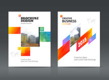 Abstract business Brochure design vector template in A4 size. Document or book cover. Annual report with photo and text. Simple style brochure. Flyer promotion Royalty Free Stock Photography