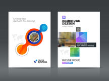 Abstract business Brochure design vector template in A4 size. Document or book cover. Annual report with photo and text. Simple style brochure. Flyer promotion royalty free illustration
