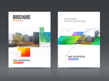 Abstract business Brochure design vector template in A4 size. Stock Images