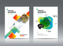 Abstract business Brochure design vector template in A4 size. Stock Photography