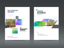 Abstract business Brochure design vector template in A4 size. Royalty Free Stock Photography
