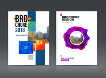 Abstract business Brochure design vector template in A4 size. Stock Photo