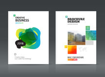 Abstract business Brochure design vector template in A4 size. Royalty Free Stock Photo