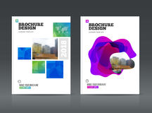 Abstract business Brochure design vector template in A4 size. Royalty Free Stock Image