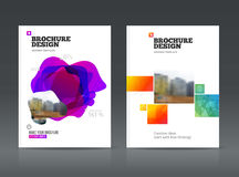 Abstract business Brochure design vector template in A4 size. Royalty Free Stock Images