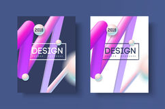 Abstract business Brochure design vector template in A4 size. Document cover. Royalty Free Stock Images