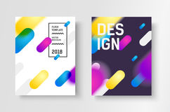 Abstract business Brochure design vector template in A4 size. Document cover. Royalty Free Stock Photos