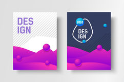 Abstract business Brochure design vector template in A4 size. Document cover. Stock Photo