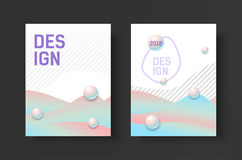 Abstract business Brochure design vector template in A4 size. Document cover. Royalty Free Stock Photography