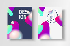Abstract business Brochure design vector template in A4 size. Document cover. Royalty Free Stock Image