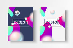 Abstract business Brochure design vector template in A4 size. Document cover. Abstract business Brochure design vector template in A4 size. Document or book Stock Images