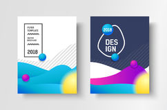 Abstract business Brochure design vector template in A4 size. Document cover. Abstract business Brochure design vector template in A4 size. Document or book Royalty Free Stock Photo