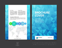 Abstract business brochure, flyer and cover design layout template with polygonal background. Vector illustration. stock illustration