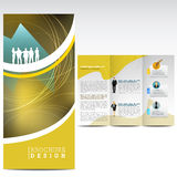 Business brochure. Abstract Business brochure with persons Stock Image